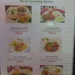 Easy to understand menu is designed for tourists