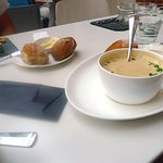 Thai soup with bread