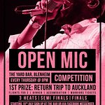 Thursdays = Open Mic night. $100 Bar tab up for grabs every week.
