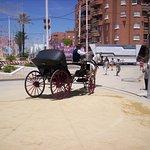 Carruaje que recorre la Feria de la Manzanilla
