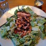 Delicious Caesar salad with salmon