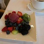 Seasonal Fresh Fruit and sorbet