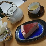 Strawberry mille crepe and tea