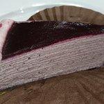 Raspberry mille crepe
