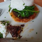 Black pudding spinach and a poached egg - special.