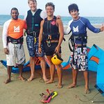 A successful day of kite boarding lessons.