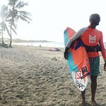Gianluca coming in from another epic kiteboarding session in Cabarete.