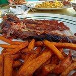 Rack of ribs with sweet potato fries