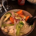 The tofu noodle soup was very good on a cold winters day. My favorite were the summer rolls....A