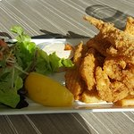 The salt & pepper calamari was decent but quite chewy.