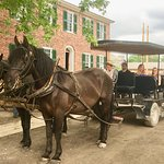 One of the horse carriage teams. This is another free ride in the Village.