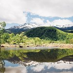 Maime Pond and a beautiful reflection of Mount Norikura