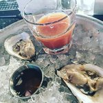 oysters and oyster shooter
