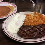 NY Strip and Eggs special for $12.15!!