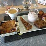 Bons produits du Lot et un café gourmand exceptionnel, l'un des meilleurs de Cahors!