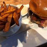 Cheeseburger with Yam Fries