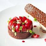 Chocolat Équatorial Valrhona, Tarte Griotte, Crème glacée lait d'Amande