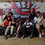 Petite photo de groupe à la fin de l'escape !! :O