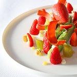 Jardin du Gourmet, Fraises et Rhubarbe