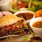 Juicy meat free burgers!