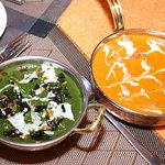Palak paneer and butter chicken