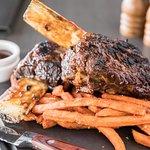 Beef Ribs with Sweet potato fries