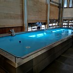 Indoor pool for toy boats.