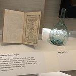 Actual Jenny Lind concert program and vase