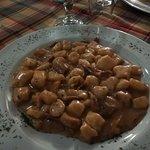 Gnocchi di polenta con crudo e porcini...ottimi!
