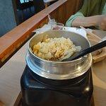 鶏と竹の子の釜飯