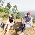 On top of Pidurangala rock. couldn't have got thiere without Manjula!