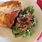 Croque monsineur with salad