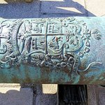 close-up bronze cannon