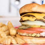 Double Cheeseburger Deluxe with Fries