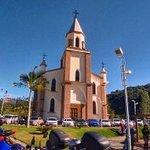 Igreja no Bairro Rachadel onde em frente localiza-se a Grande Festa do Colono