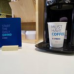 Get your daily dose of caffeine; coffee's always hot and ready