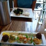 Scallops and Black Pudding Bom Boms