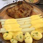 white asparagus ... yum!