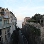 Piazza Tasso overlooks a winding road down to Marina Piccola