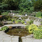 The pool in the walled garden
