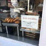 Front window at Portuguese Bakery