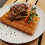 Steak and Kidney Waffle