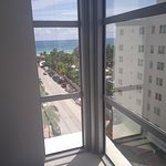 Sea view from corner room