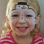one of our happy face painted customers