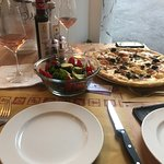 Very attentive staff, had a fab rose from locally produced vineyard...what's not to like,pizza,