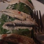 salad with white anchovies