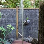 New Outdoor shower at the Villas