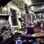 Chef Cooking Saag Aloo