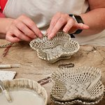 Hand weaving baskets