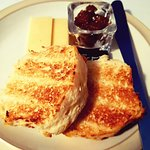Toasted cheese scone with extra mature cheddar and chutney